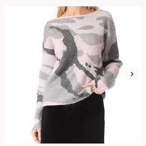 Rag & Bone Sinclair Pink Camo Pullover Sweater
